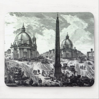 Della Piazza del Popolo, c.1750 de Veduta Alfombrillas De Raton