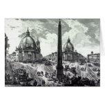 Della Piazza del Popolo, c.1750 de Veduta Tarjeta De Felicitación