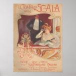 Della Scala 1900 de IL Teatro Póster