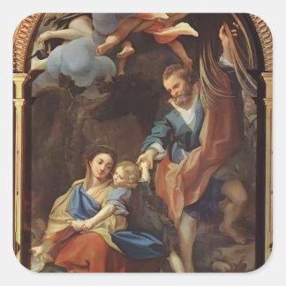 Della Scodella de Correggio- Madonna Pegatina Cuadrada