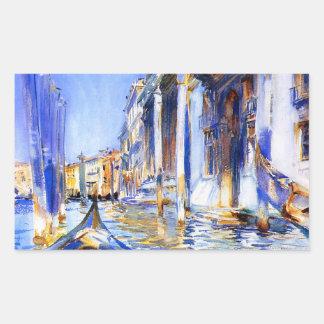 Dell'Angelo Venecia de John Singer Sargent Río Pegatina Rectangular