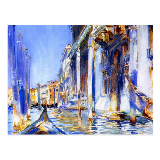 Dell'Angelo Venecia de John Singer Sargent Río Tarjeta Postal