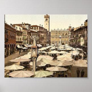 Delle Erbe obra clásica Photochro de Piazzi de Ve Impresiones