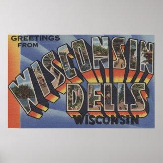 Dells de Wisconsin Wisconsin - escenas grandes de Posters