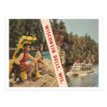 Dells Wisconsin de Wisconsin del vintage Tarjeta Postal