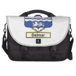 Delmar Family Crest Laptop Messenger Bag