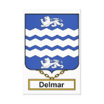 Delmar Family Crest Stretched Canvas Prints