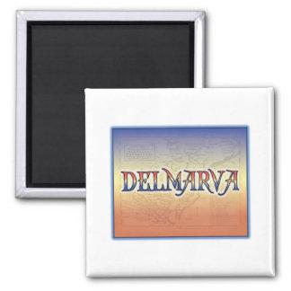 DelMarVa Antique Map 2 Inch Square Magnet