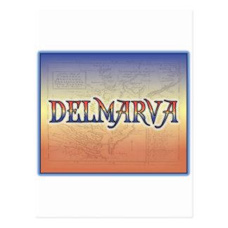 DelMarVa Antique Map Postcard