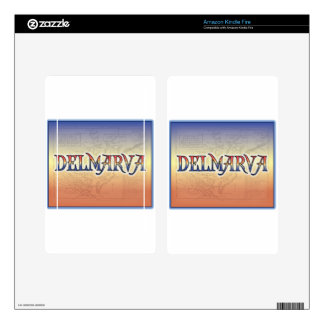 DelMarVa Antique Map Kindle Fire Decals