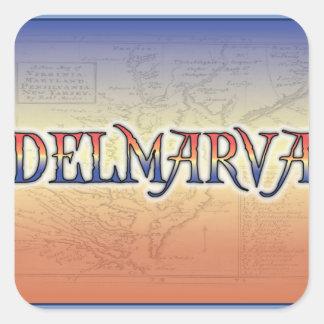 DelMarVa Antique Map Square Sticker