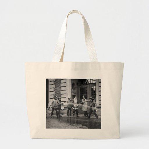Delousing Santa Claus, 1920s Tote Bags