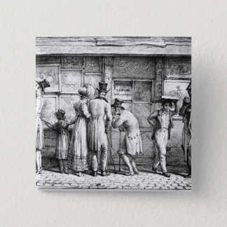 Delpech's Lithographic Print Shop, c.1818 Pinback Button