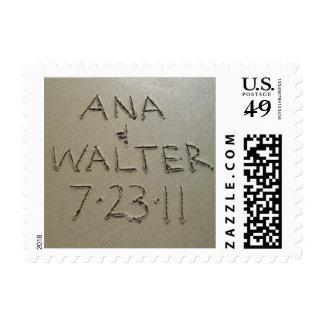 Delph Beach SaveDate Postage Stamp