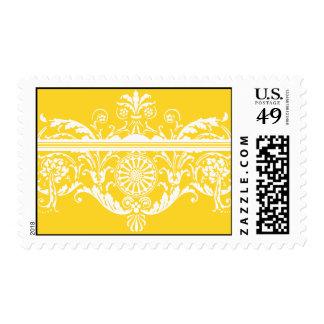 Delphi amarillo y blanco del Freesia de Delfina Timbres Postales