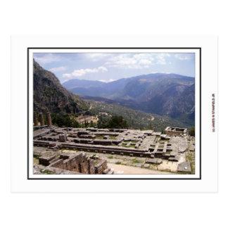Delphi Archaeological Site Postcard