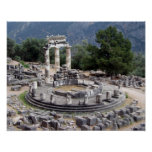 Delphi - Greek Ruins Poster