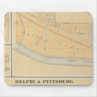 Delphi & Pittsburg with suburban towns Mouse Pad