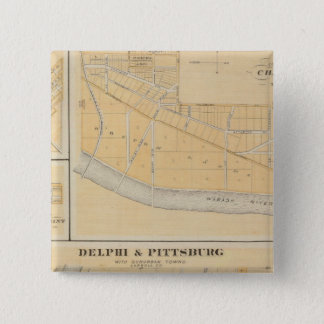 Delphi & Pittsburg with suburban towns Pinback Button