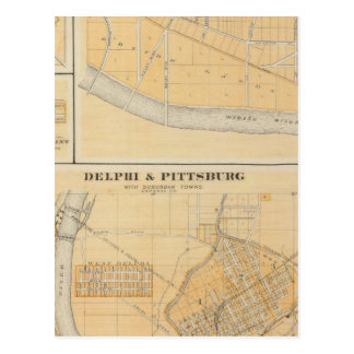Delphi & Pittsburg with suburban towns Post Cards