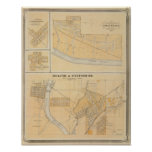 Delphi & Pittsburg with suburban towns Print