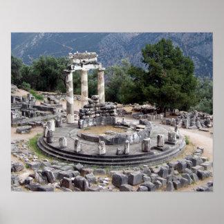 Delphi - ruinas del Griego Póster