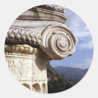 Delphi Temple Classic Round Sticker