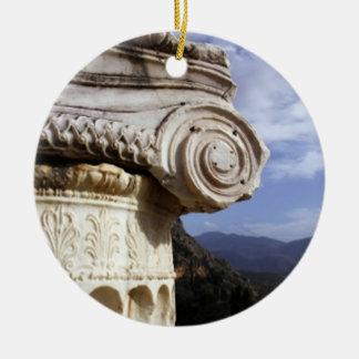 Delphi Temple Christmas Ornaments