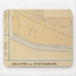 Delphi y Pittsburg con las ciudades suburbanas Alfombrillas De Ratones