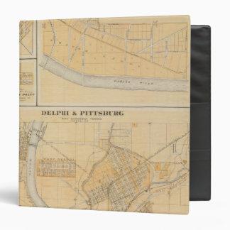 """Delphi y Pittsburg con las ciudades suburbanas Carpeta 1 1/2"""""""