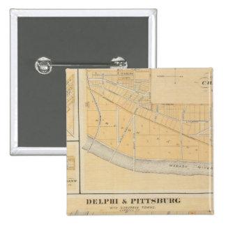 Delphi y Pittsburg con las ciudades suburbanas Pin Cuadrado