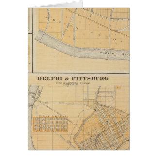 Delphi y Pittsburg con las ciudades suburbanas Tarjeta De Felicitación