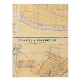 Delphi y Pittsburg con las ciudades suburbanas Tarjetas Postales