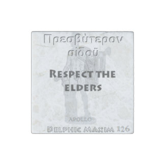 Delphic Maxim #126 - Respect The Elders Stone Magnet