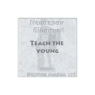 Delphic Maxim #127 - Teach The Young Stone Magnet