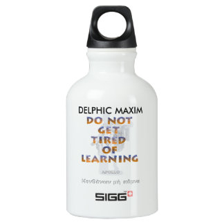 Delphic Maxim DO NOT GET TIRED OF LEARNING Aluminum Water Bottle