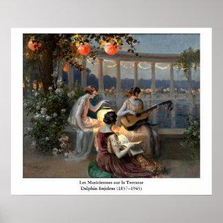 Delphin Enjolras' Les Musiciennes sur la Terrasse Poster