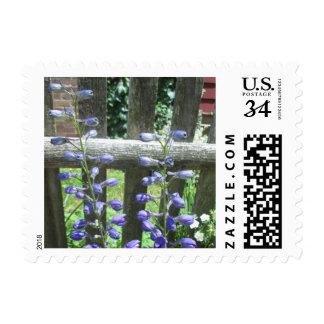 Delphinium Closed Fence Stamp