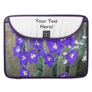 Delphinium Flower Fence Sleeves For MacBooks