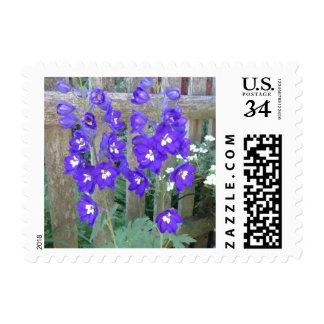 Delphinium Flower Fence Postage
