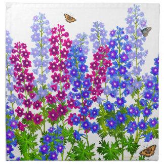 Delphinium Larkspur Butterfly Garden Napkin