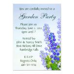 """Delphinium Personalized Garden Party Invitation 5"""" X 7"""" Invitation Card"""