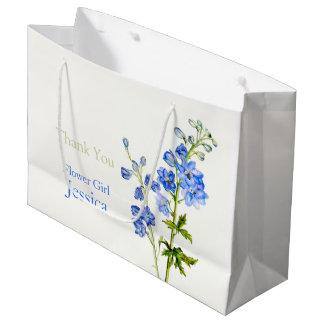 Delphinium que casa el bolso azul del regalo del bolsa de regalo grande