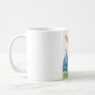 Delphiniums and Peppermint Art Bunny Mug