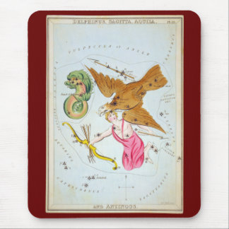 Delphinus, Sagitta, Aquila, and Antinous Mouse Pad