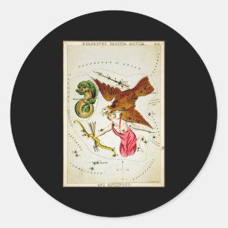 Delphinus, Sagitta, Aquila, and Antinous Sticker