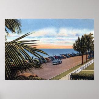 Delray Beach Florida Along the Coast 1940 Poster