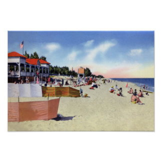 Delray Beach Florida Beach Scene Poster