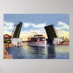Delray Beach Florida Canal Scene Print
