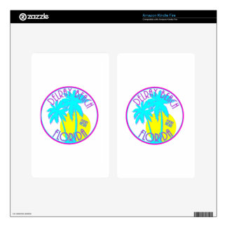 Delray Beach Florida Decal For Kindle Fire